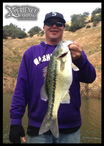 Rob Betsch with a chunk spotted bass